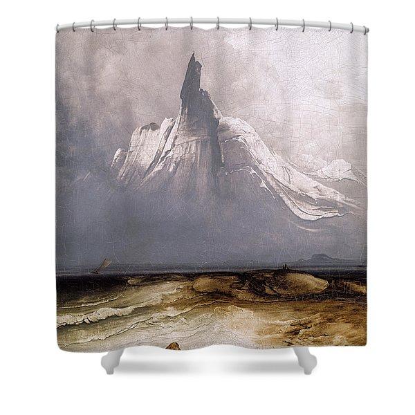 Stetind In Fog Shower Curtain