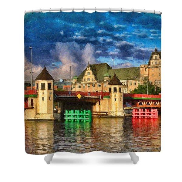 Stettin Bridge - Pol890431 Shower Curtain