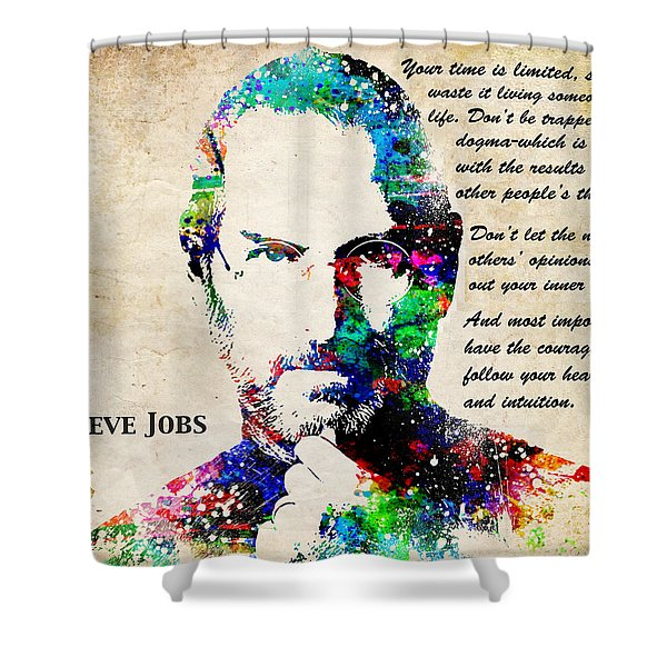 Steve Jobs Portrait Shower Curtain