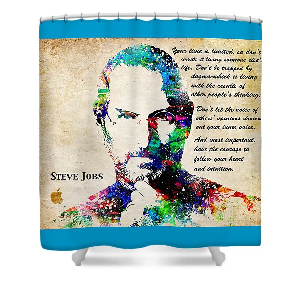 Steve Jobs Portrait Shower Curtain
