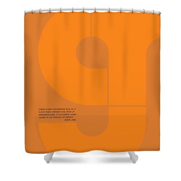 Steve Jobs Quote Poster Shower Curtain
