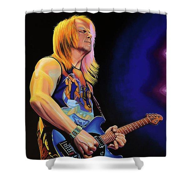 Steve Morse Painting Shower Curtain