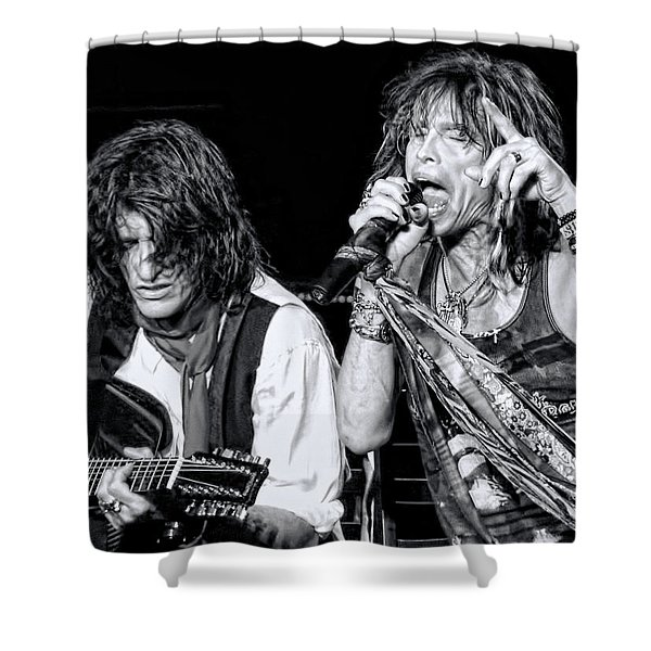 Steven Tyler Croons Shower Curtain