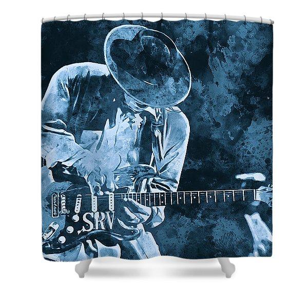Stevie Ray Vaughan - 12 Shower Curtain