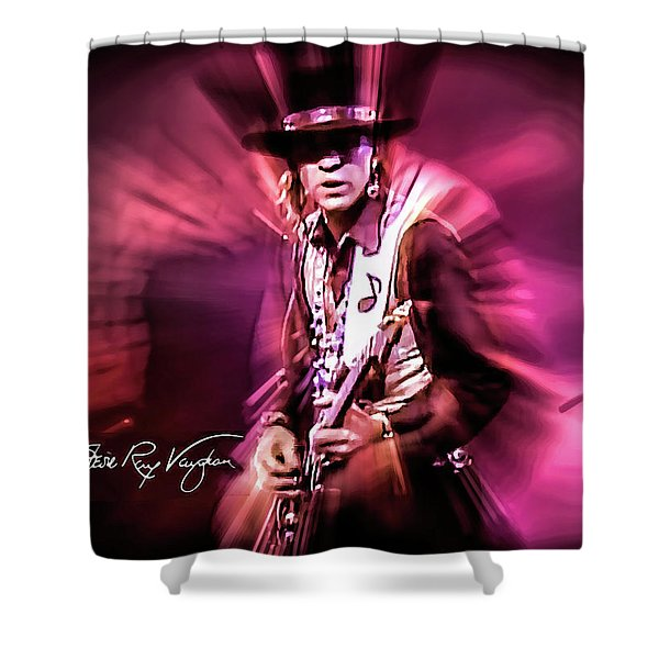 Stevie Ray Vaughan - Crossfire Shower Curtain