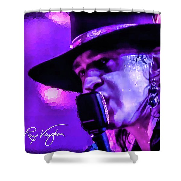 Stevie Ray Vaughan- Voodoo Chile Shower Curtain