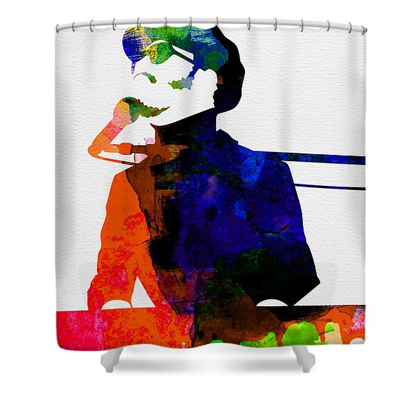 Stevie Watercolor Shower Curtain