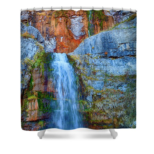 Shower Curtain featuring the photograph Stewart Falls by David Millenheft