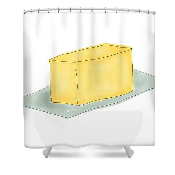 Stick Of Butter- Art By Linda Woods Shower Curtain