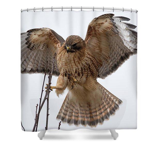 Stick The Landing Shower Curtain