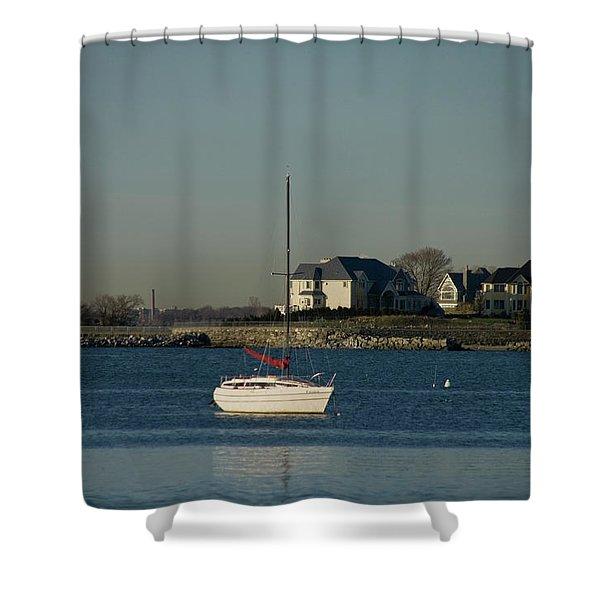 Still Boat Shower Curtain