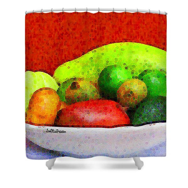 Still Life Art With Fruits Shower Curtain