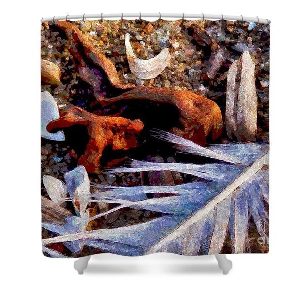 Still Life At Beach 2015 Shower Curtain