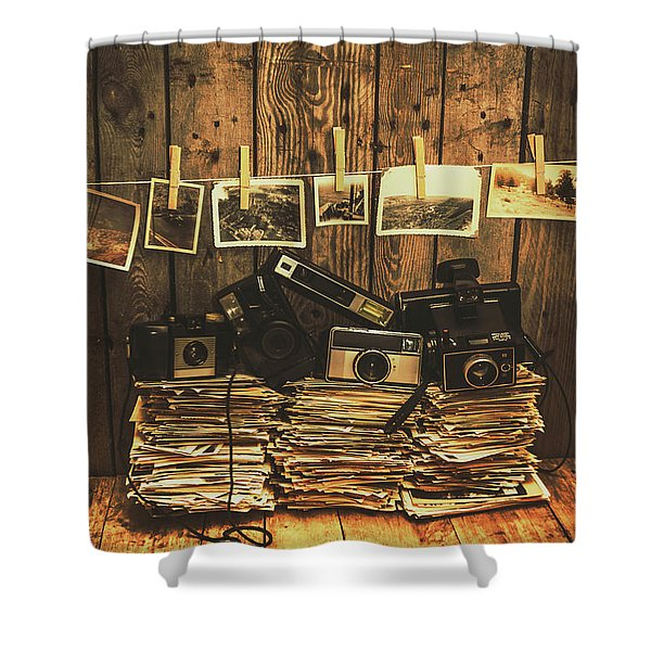 Still Life Nostalgia Shower Curtain