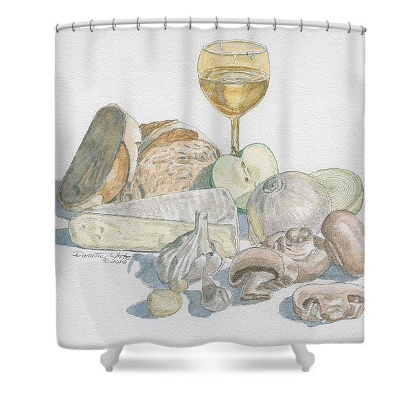 Still Life Of White Food Shower Curtain