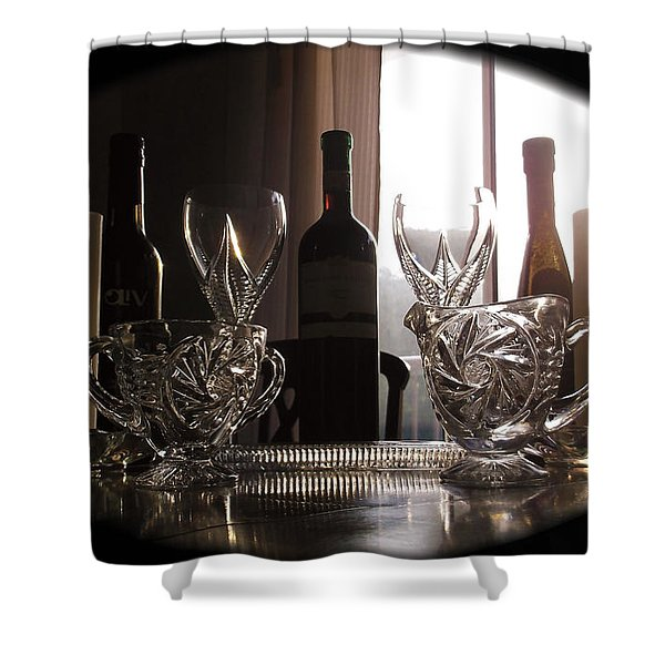 Still Life - The Crystal Elegance Experience Shower Curtain