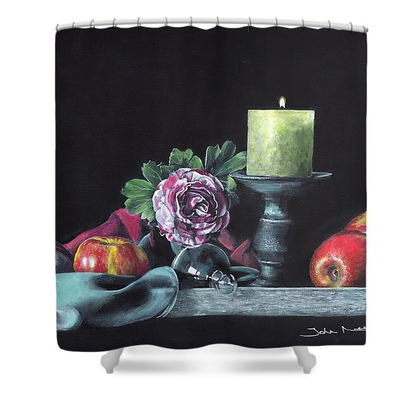 Still Life With Candle Shower Curtain