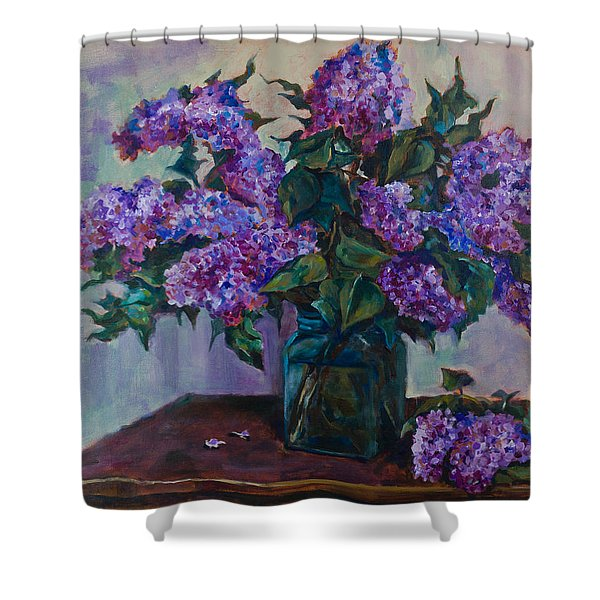 Still Life With Lilac  Shower Curtain