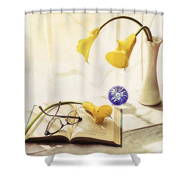 Still Life - Yellow Calla Lilies Shower Curtain