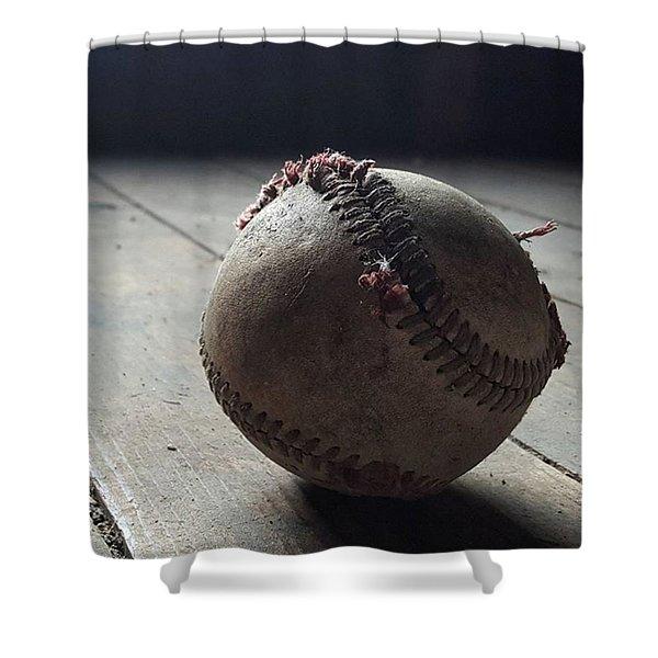 Baseball Still Life Shower Curtain