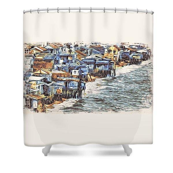 Stiltsville Shower Curtain