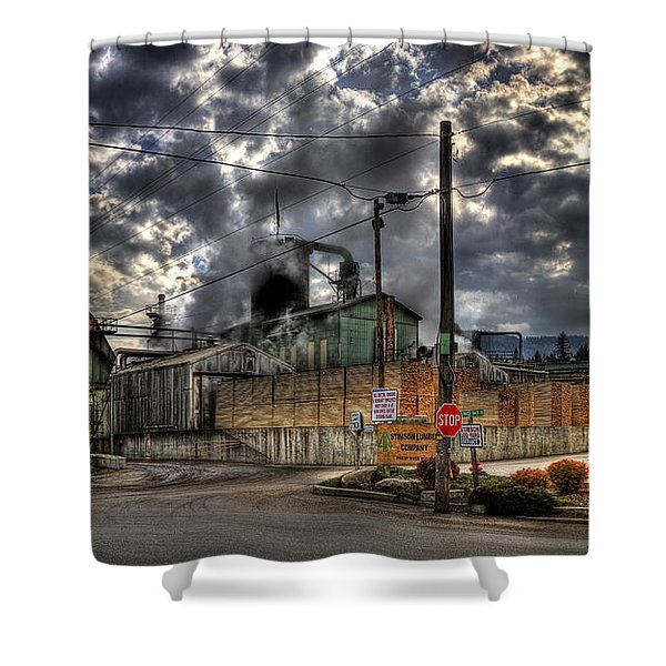 Stimson Lumber Mill Shower Curtain