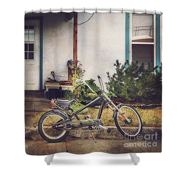 Sting Ray Bicycle Shower Curtain