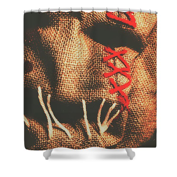 Stitched Up Madness Shower Curtain
