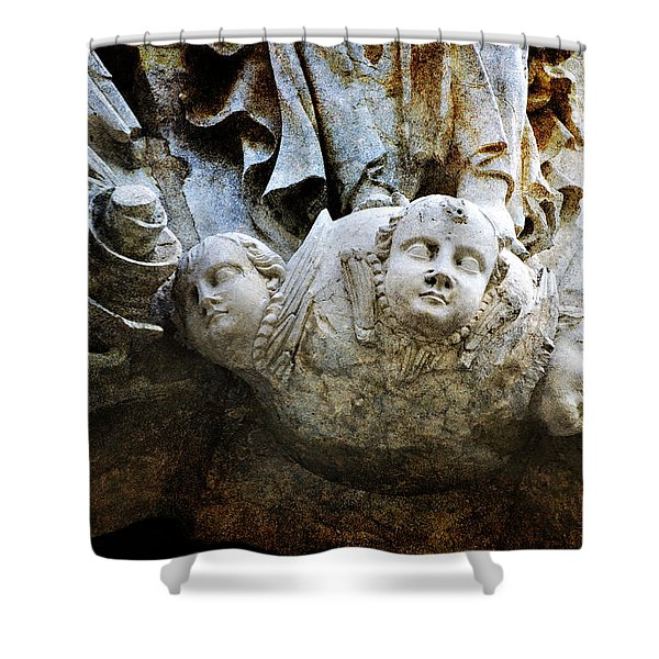 Stone Angels Shower Curtain