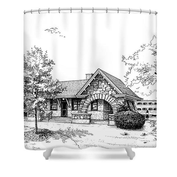 Stone Ave. Train Station Shower Curtain