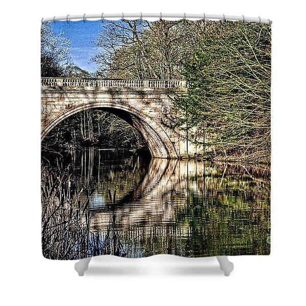 Stone Bridge On River Shower Curtain