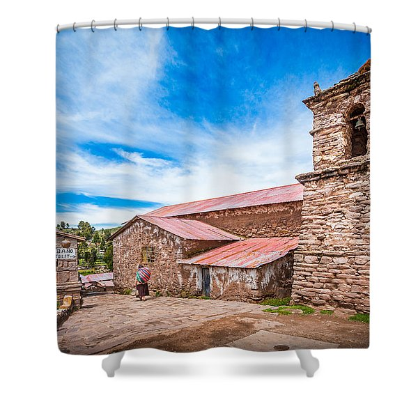 Stone Buildings Shower Curtain