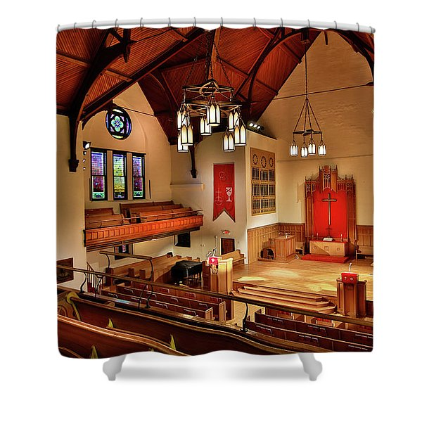 Stone Chapel Shower Curtain