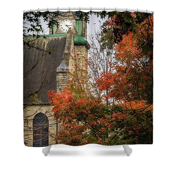 Stone Chapel Fall Shower Curtain