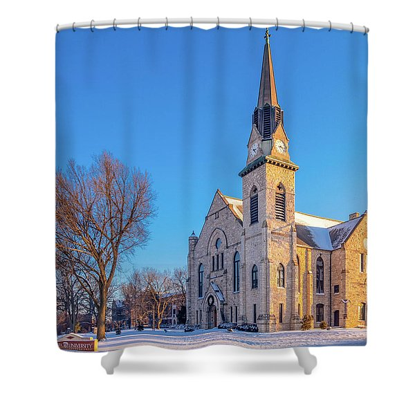 Stone Chapel In Winter Shower Curtain