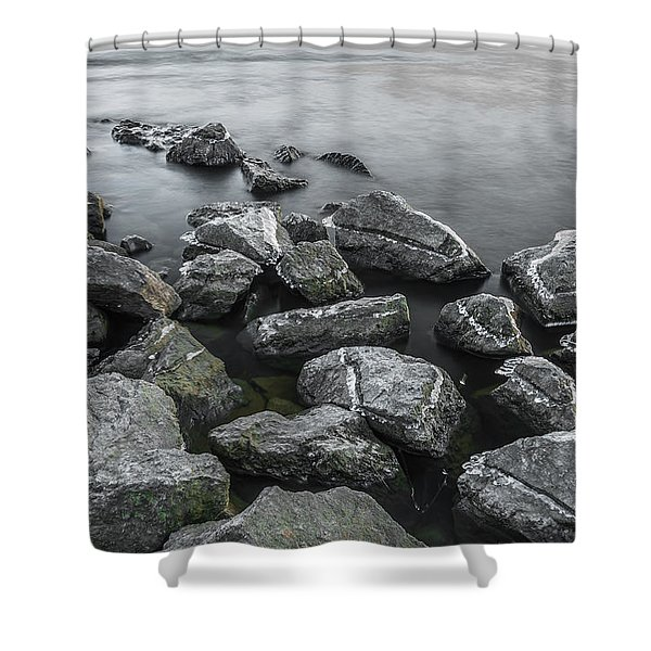 Stone Cold Shower Curtain