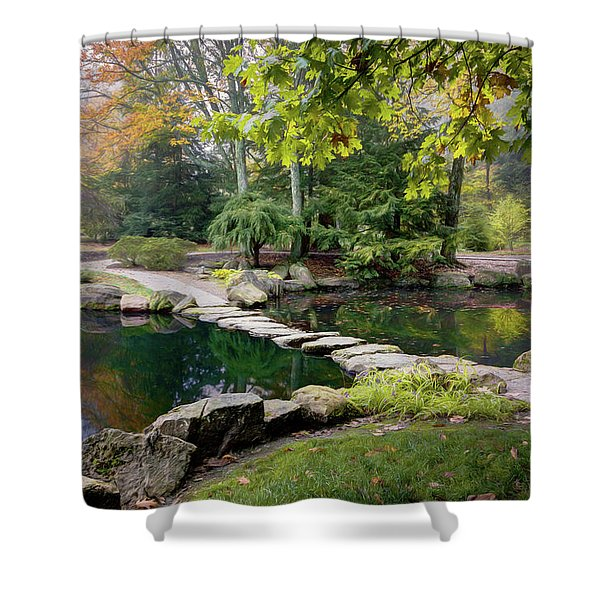 Stone Crossing Shower Curtain