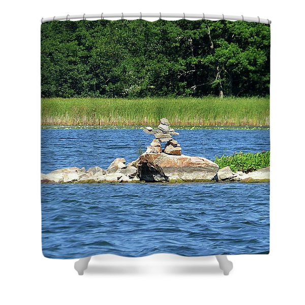 Stone Man Of  The Rift Shower Curtain