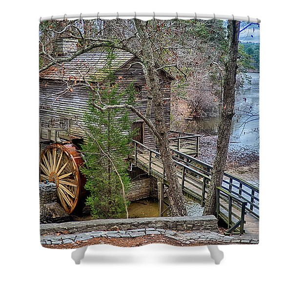 Shower Curtain featuring the photograph Stone Mountain Park In Atlanta Georgia by Alex Grichenko