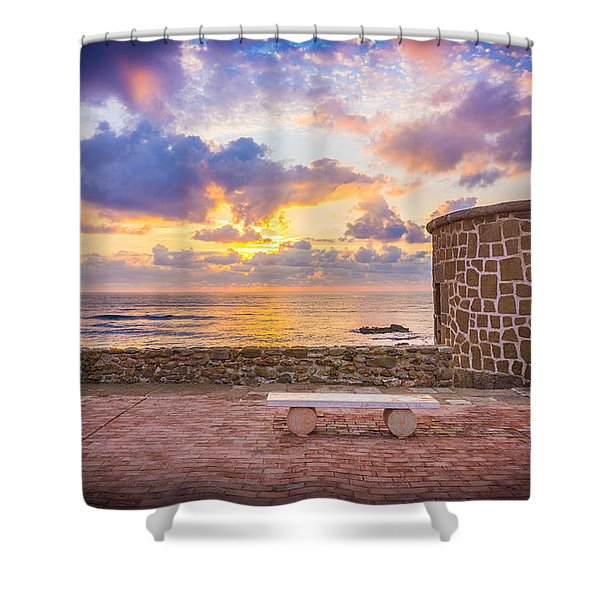 Stone Torre 1. Shower Curtain