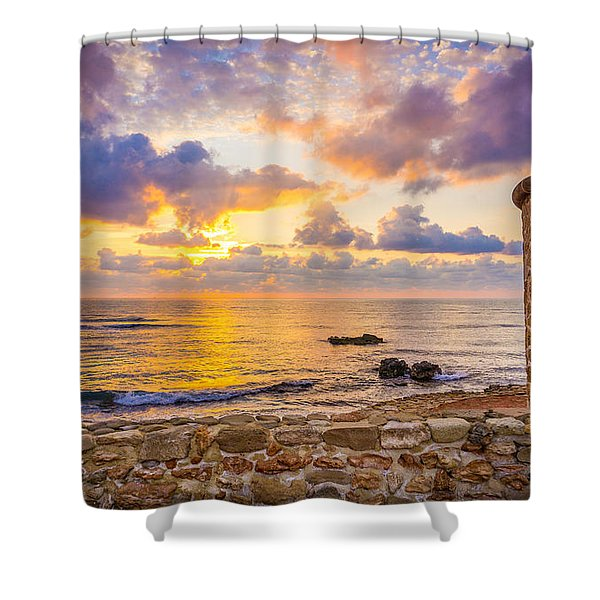 Stone Torre 2. Shower Curtain