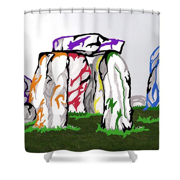 Stonehenge Chakras Shower Curtain
