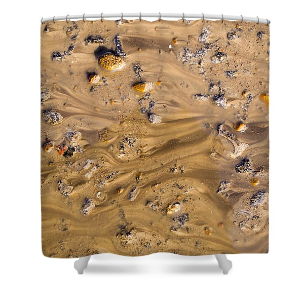 Stones In A Mud Water Wash Shower Curtain