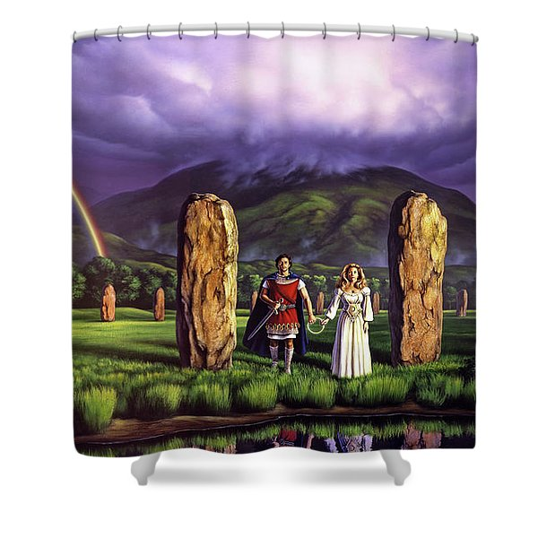 Stones Of Years Shower Curtain
