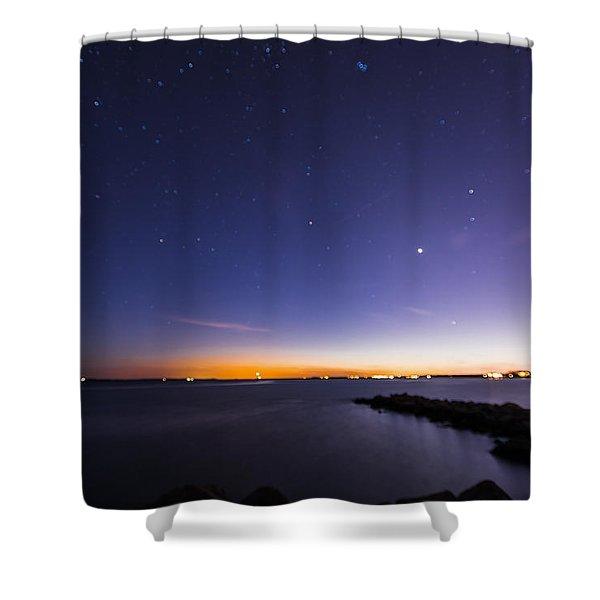 Stonington Skies Shower Curtain