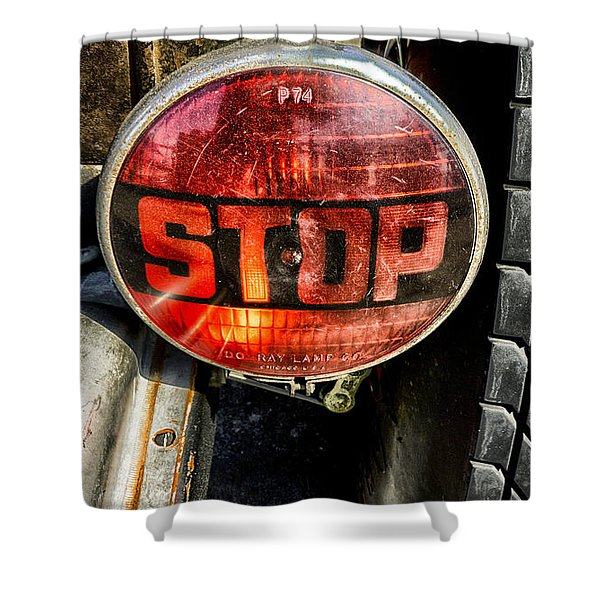 Stop Light Classic Shower Curtain