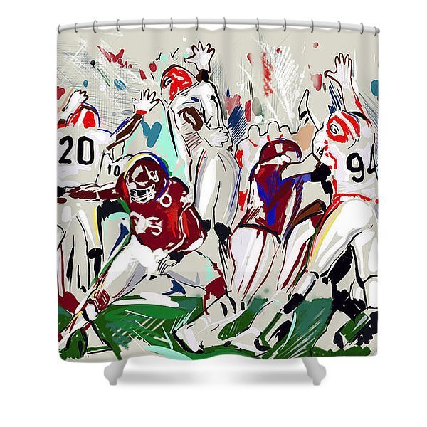Stopped Shower Curtain