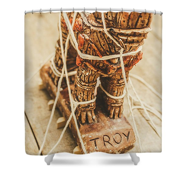 Stories From Ancient Troy Shower Curtain