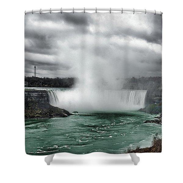 Storm At Niagara Shower Curtain