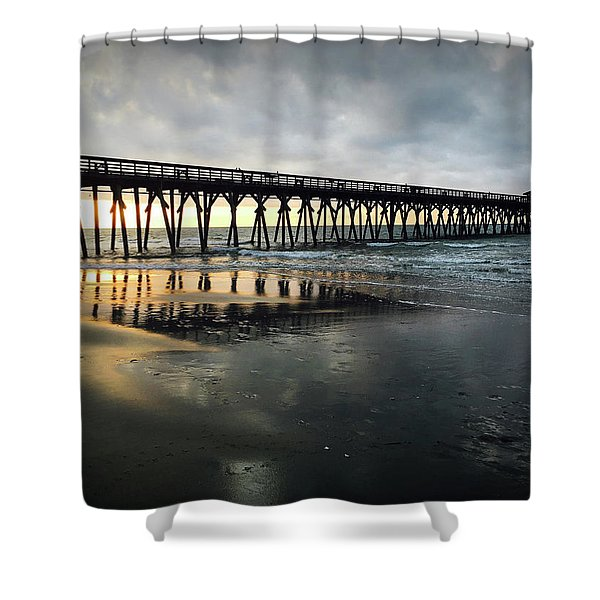Storm At Sunrise In Color Shower Curtain